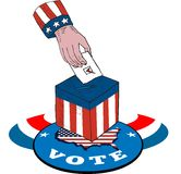 American Election Voting Ballot Box Retro Royalty Free Stock Photos
