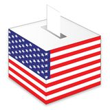 American elections. American flag and ballot box Royalty Free Illustration