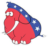 The American elephant. The elephant party Stock Image