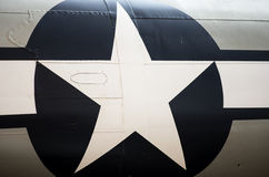 American emblem. Star on an American war plane Stock Photo