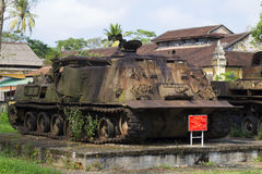 American engineering tank in the city Museum of Hue. Vietnam Stock Photo