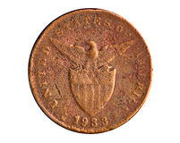 American Era Copper Coin Stock Image