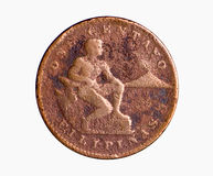 American Era Copper Coin Stock Photo