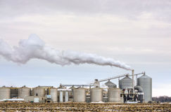 American Ethanol Refinery. Ethanol Refinery in the American Midwest Stock Images