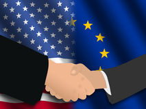 American EU meeting Stock Image