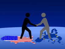 American and European meeting Royalty Free Stock Images