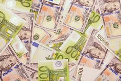 American and european money. Royalty Free Stock Image