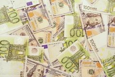 American and european money. Stock Photography