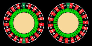 American and european roulette wheel Royalty Free Stock Images