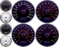american european speedometer απεικόνιση αποθεμάτων