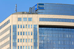 American Express Company Building. Frankfurt, Germany - July 13, 2013: Office Building of multinational financial services firm American Express Company (Amex Royalty Free Stock Image