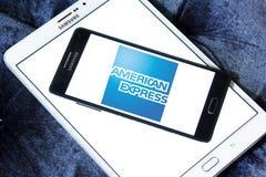 American Express-embleem stock afbeeldingen