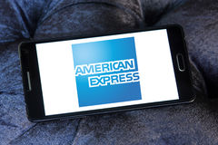 American express logo Stock Photo