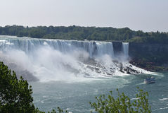 American Fall and Maid of The Mist Niagara Falls Ontario Canada Stock Photography