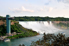 American Falls. Image of the AMerican Side falls, Niagara Falls NY wiht the Maid of the MIst Stock Images