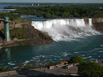 American Falls. Niagara with observation tower stock photo