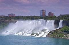American Falls and Bridal Veil Falls at Niagara Stock Photo