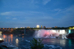 American Falls  and Bridal Veil Falls at night Stock Images