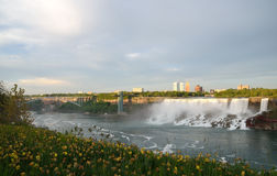 American Falls , Bridal Veil Falls and Rainbow Bridge Stock Photography