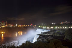American Falls and Niagara Falls City in Canada Stock Photography