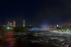American Falls and Niagara Falls City in Canada Royalty Free Stock Photo