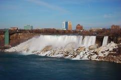American Falls of Niagara Falls in early spring Stock Photo