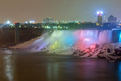 American Falls night Royalty Free Stock Photography