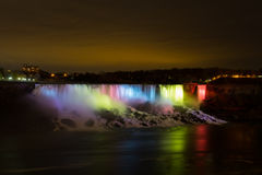 American Falls at Night Stock Images