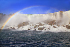 American Falls and rainbow, Niagara Stock Images