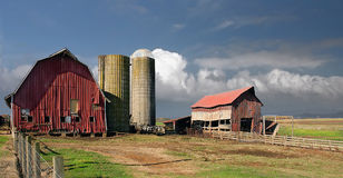 American Family Farm. The american small dairy farmer is in need of help, the building need help they are falling apart slowly and this photograph shows an Stock Images
