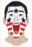 American fan face Stock Image