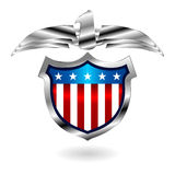 American fantasy badge over white Stock Images
