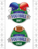 American Fantasy Football Illustrations. An illustration of American Fantasy Football badges. Vector EPS 10 file available for download. EPS file contains Stock Photos