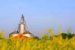 American Farm. A silo on a farm in Michigan, USA Stock Photo