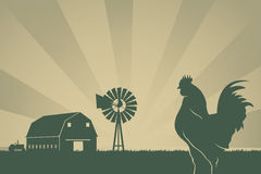 American Farming Background Stock Photography