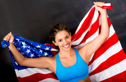 American female athlete Royalty Free Stock Photo