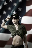 American Female Soldier Stock Photos
