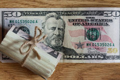 American Fifty Dollar Bills Royalty Free Stock Photo