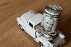 American Fifty Dollar Bills Royalty Free Stock Photography