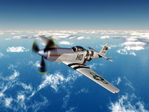 American fighter bomber of World War II. Computer generated 3D illustration with an American fighter bomber of World War II Royalty Free Stock Image
