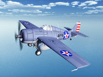 American fighter plane of World War II Stock Photos