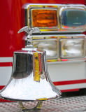 American fire truck fire engine with gleaming eagle symbol Royalty Free Stock Photography