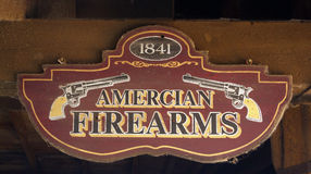 American Firearms sign stock photo