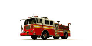 American firetruck. On white background Stock Photos