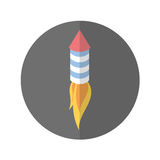 American fireworks isolated icon. Vector illustration design Stock Photo