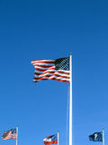 American flag. Flags at fort sumter: american, union, south carolina, and confederate flags royalty free stock photo