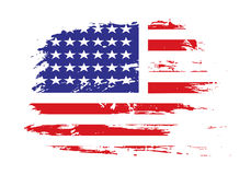 American flag. Grunge american flag background,vector illustration Royalty Free Stock Photo