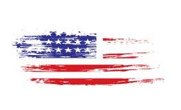 American flag. Grunge American flag background,vector illustration Stock Images