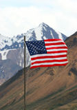 American Flag. Flying in Alaska state park Royalty Free Stock Images