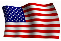 American Flag. United States of American Flag vector illustration